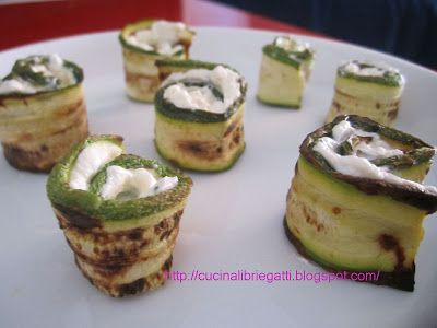 Involtini di zucchine al formaggio fresco