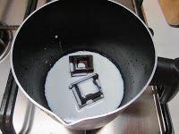 Panna cotta con crema al cioccolato