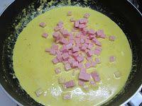 Tagliolini alla crema al curry zucca e prosciutto cotto
