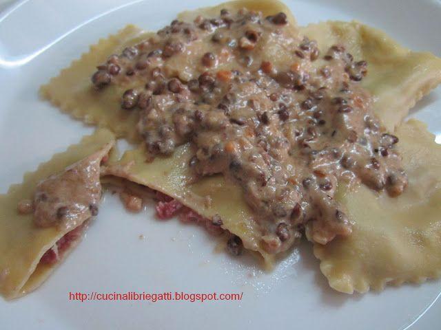 ravioli cotechino e lenticchie