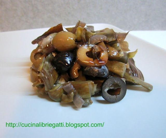Caponata di carciofi con glassa all'aceto balsamico