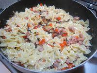 Pasta radicchio e salsiccia con zucca