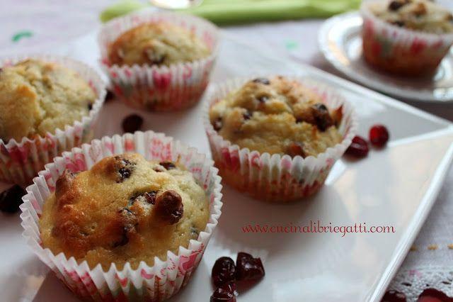 muffin ai mirtilli rossi essiccati cramberry