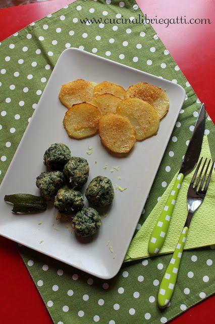Polpette di vitello spinaci e limone con patate gratinate al burro