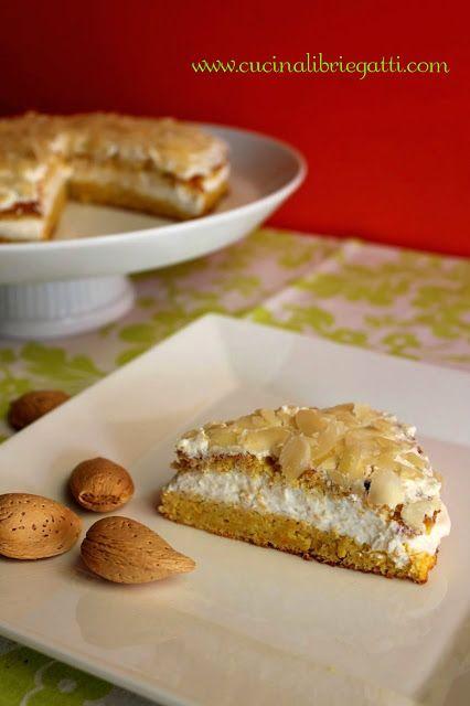 Torta mandorle e carote con crema di ricotta - Ricetta Gluten Free