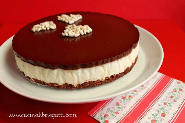 Cheesecake riso soffiato al cioccolato
