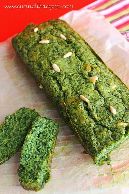 Cake spinaci e pinoli