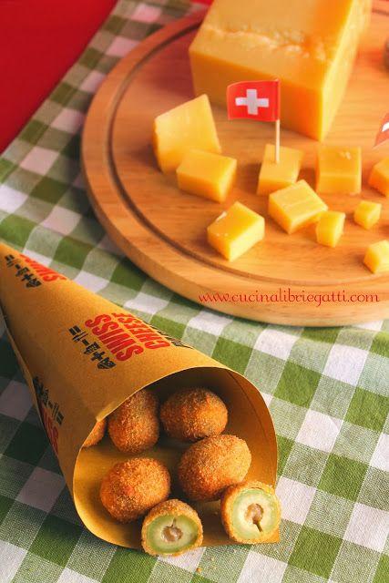 Olive all'ascolana ripiene di formaggio e prosciutto cotto