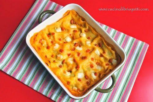 Lasagna zucca funghi e brie