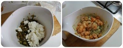 Cannelloni di crepes con gamberi zucchine e topinambur