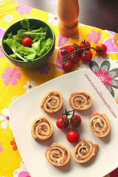 rotolo di frittata con crema di melanzane prosciutto crudo e caprino ricetta