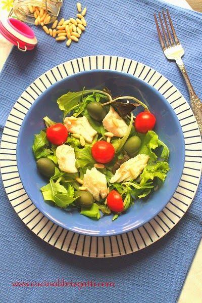 ricetta insalata di merluzzo con olive pinoli pomodori