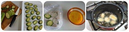 Zucchine fritte con salsa ai pinoli