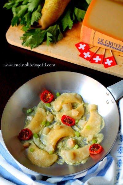 ricetta gnocchi ripieni formaggio crema sedano pere