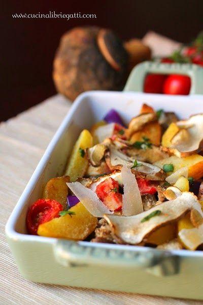 teglia verdure funghi porcini forno ricetta