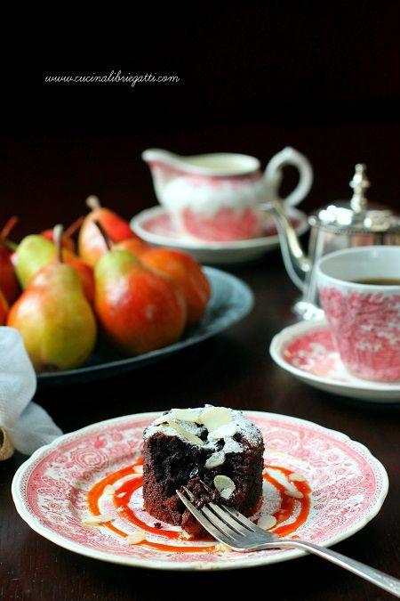 tortini cioccolato pere