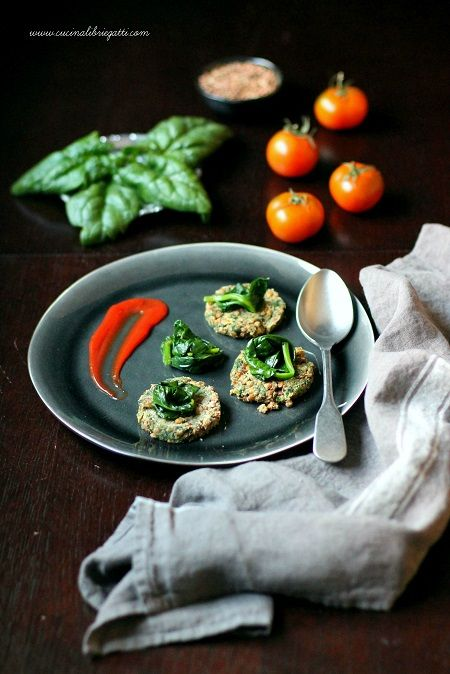 hamburger di lenticchie e spinaci