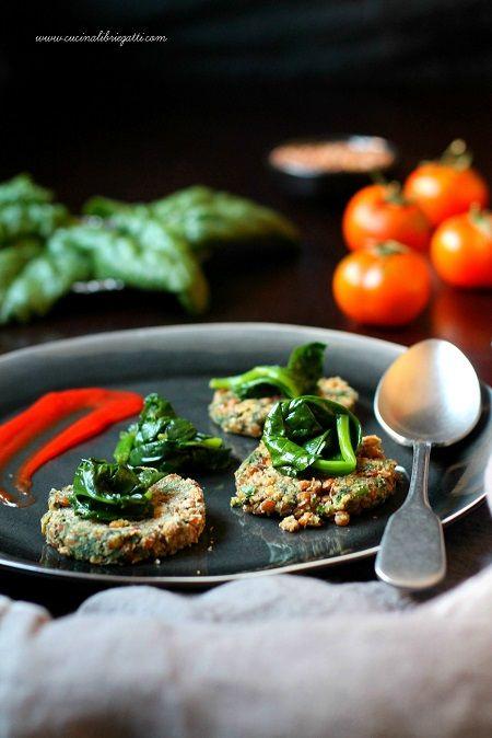 hamburger lenticchie spinaci