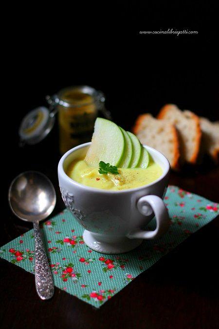 crema di cavolfiore e mela verde