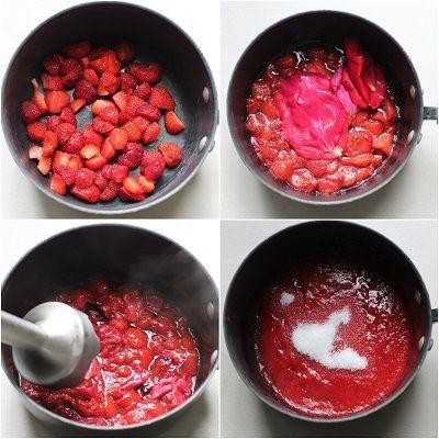 preparazione marmellata di rose