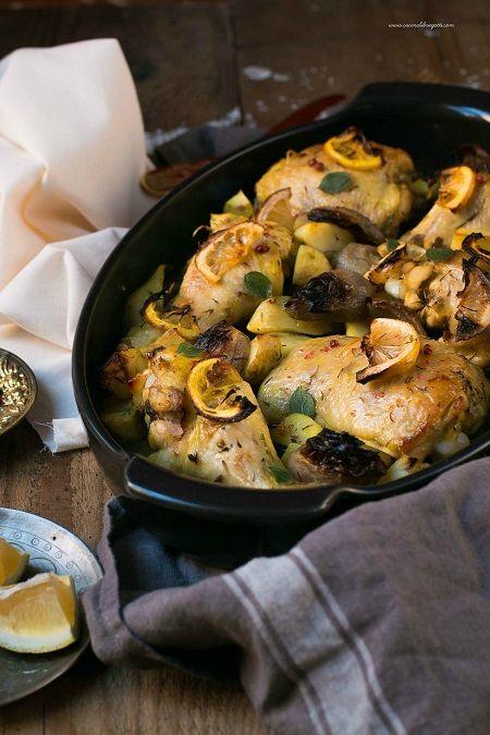 pollo marinato topinambur