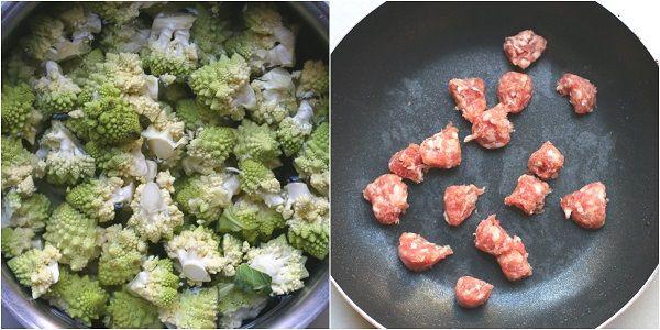 Minestra di patate broccoli e salsiccia