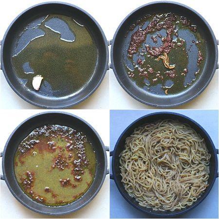 pasta al sugo di olive nere