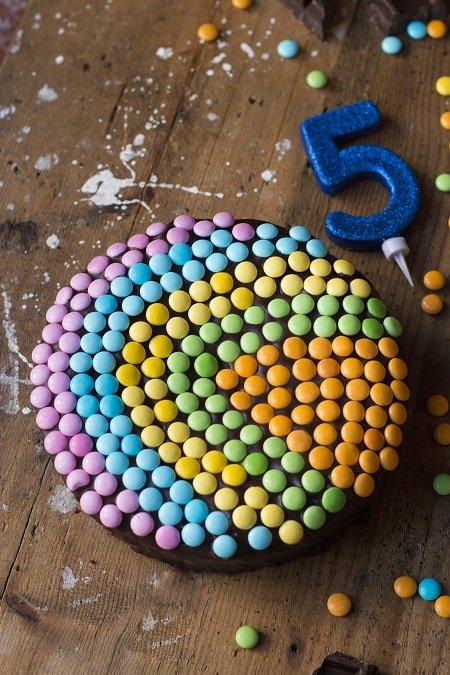 torta con gli smarties
