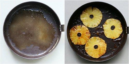 come fare ananas caramellato