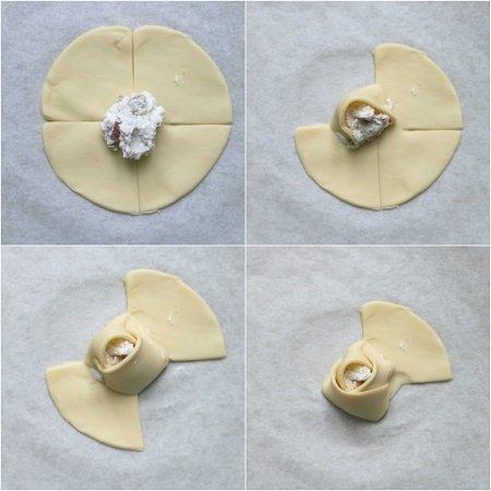 salatini con pasta sfoglia